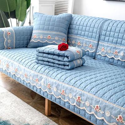 沙发垫欧式罩巾四季通用现代布艺防滑家用全包万能套全盖冬坐垫子