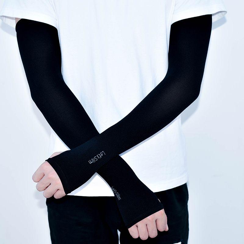 【优质版】冰丝袖套防晒女套袖袖子男士户外胳膊手套跑男冰袖