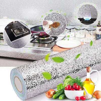 厨房防油贴纸耐高温防火灶台橱柜油烟墙壁纸自粘桌子桌面家具翻新