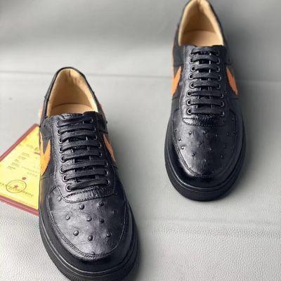 材质:鞋面鸵鸟皮 鞋里牛皮 鞋底橡胶 手机实拍上图