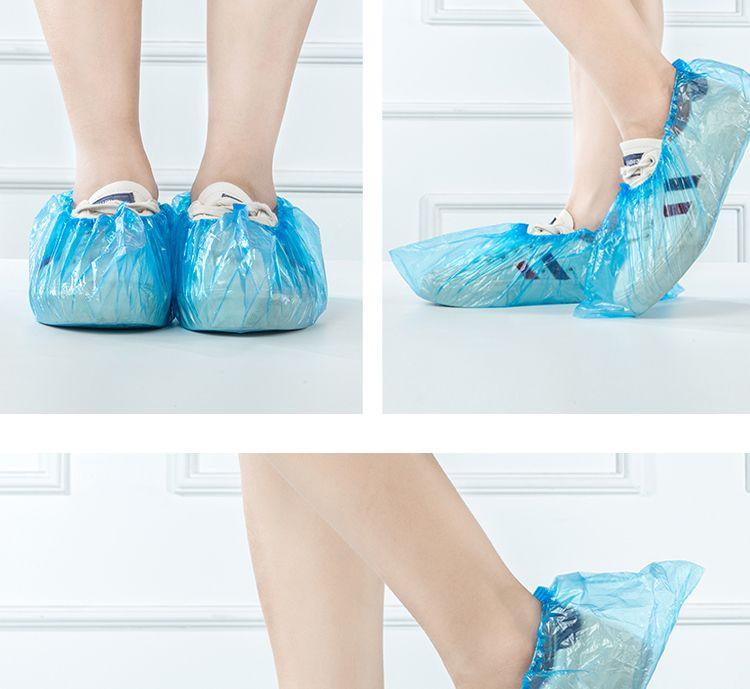 【48小时内发货】100只一次性鞋套加厚防水防臭脚套下雨天家用室内客人防尘塑料套