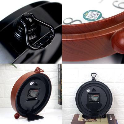 新款康巴丝欧式座钟创意复古闹钟客厅台钟装饰钟表现代简约静音石