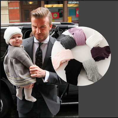 小花鹿男女宝宝儿童打底裤婴儿加绒秋冬季棉毛圈加厚款打底连裤袜