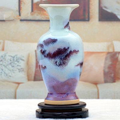 新款陶瓷工艺品花瓶家居饰品客厅酒柜装饰品摆设钧瓷花瓶摆件创意