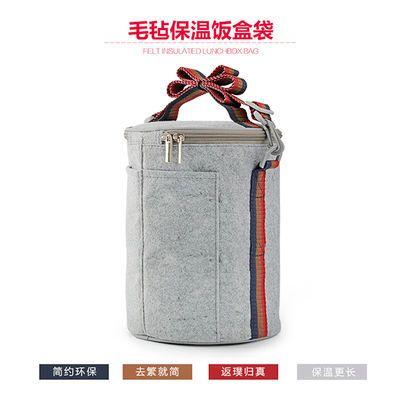 【第二件八折】防水饭盒保温袋子圆形便当盒保鲜小拎包帆布手提袋【3月10日发完】