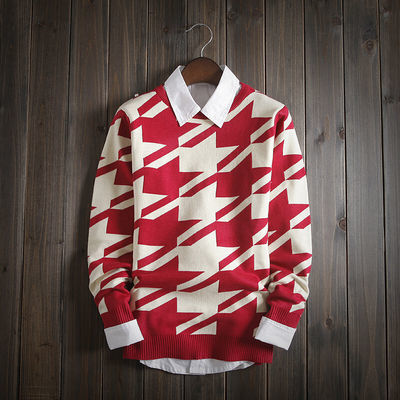 【当季热卖】同款秋冬季男士圆领T恤毛线卫衣青少年修身针织小衫