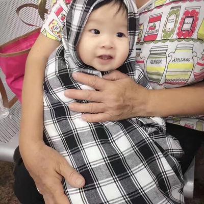闽南风俗婴儿黑白格子布方巾带佛教万字厦门传统婚嫁习俗花被花帕