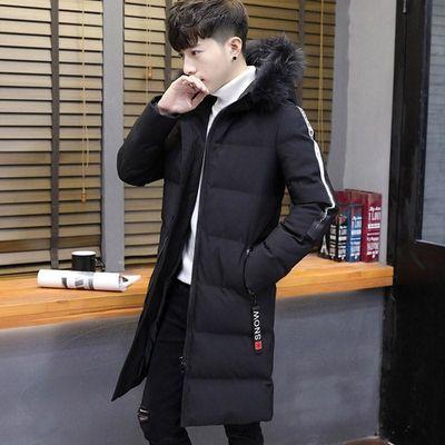 棉衣男外套冬季韩版连帽羽绒棉服中长款修身加厚冬装潮流男装棉袄