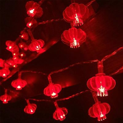 LED过年小红灯笼彩灯闪灯串灯装饰灯新年春节房间家用喜庆挂饰灯