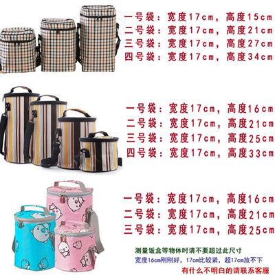 加厚保温饭盒袋便当包圆形方形防水保鲜学生帆布手提袋提锅小拎包