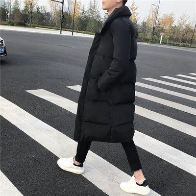 棉袄男冬季加厚外套韩版修身中长款过膝棉大衣潮流青少年羽绒棉服