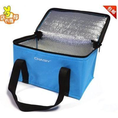 手提饭盒袋便当包保温包带饭包冰包冰袋锡箔保冷保鲜户外野餐小号【3月12日发完】