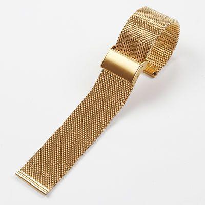 美康汇 代用dw天梭金属表链单扣钢带手表带兰304不锈钢精钢配件