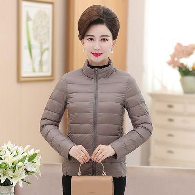 【特价】新品上市羽绒服短款外套女装白鸭绒修身羽绒衣中年妈妈冬