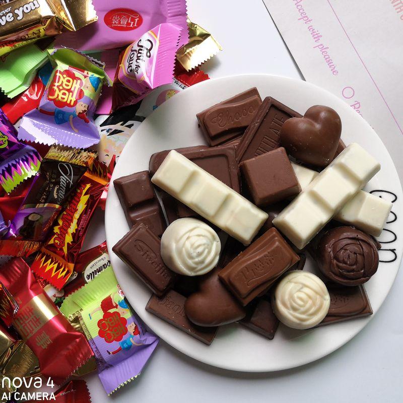 多口味混合巧克力500g约50颗 休闲零食糖果散装年货礼物