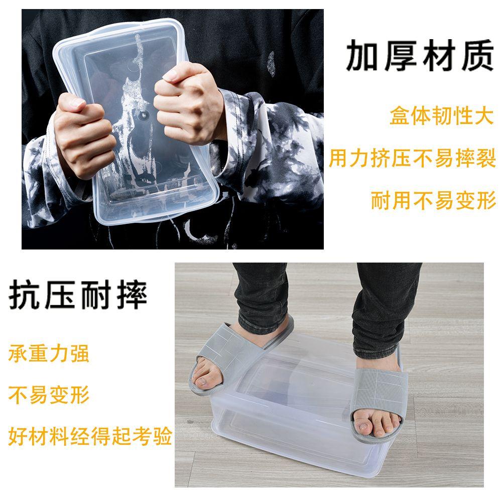 保鲜盒收纳盒厨房微波炉冰箱塑料透明带盖长方形圆形储物盒子饭盒的细节图片3