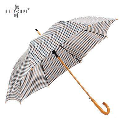 英伦半自动双人格子雨伞 男女休闲长柄伞韩版条纹防晒晴雨两用伞