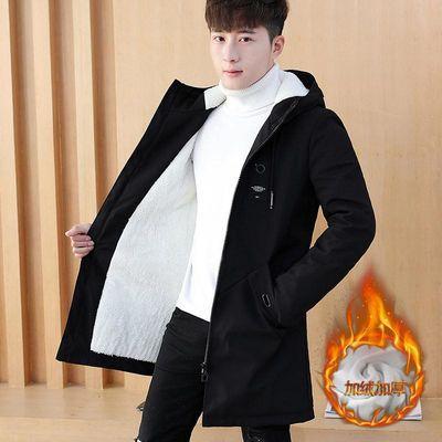 秋冬季男士中长款棉衣加绒保暖外套学生潮流帅气棉服加厚男装棉袄