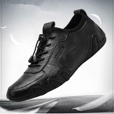 真皮牛皮男鞋夏季新款商务休闲皮鞋真皮透气英伦韩版青年男士潮鞋