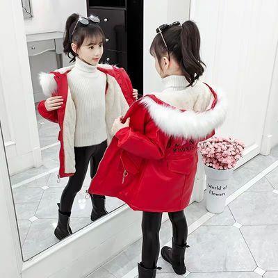 女童皮衣外套2020新款韩版儿童秋冬装加绒加厚女孩时髦洋气皮风衣