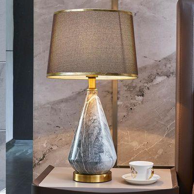 美式温馨陶瓷台灯 卧室创意现代时尚床头灯 客厅书房简约小台灯