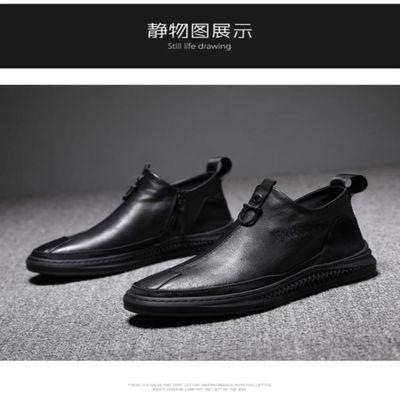 千寻爆款推荐飞行员战术鞋菲特语秋冬男鞋潮流男靴HM9601休闲皮鞋