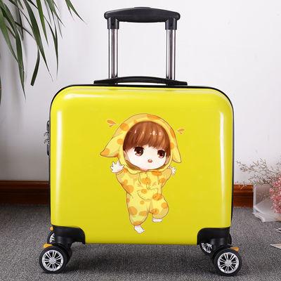 迷你卡通拉杆箱18寸16登机箱密码旅行箱学生可爱小型行李箱女韩版【3月1日发完】