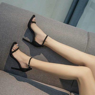 34-43 大码凉鞋女美鱼嘴粗跟性感高跟鞋夜店加大码女鞋41码42