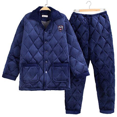 便宜的【新品冲量 亏本600件】加厚睡衣男士款冬季加绒法兰绒家居服套装