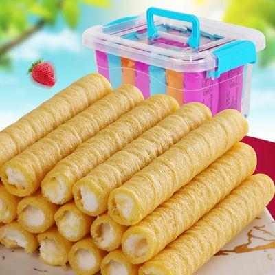 【72根仅12.9】水果蛋卷奶香饼干24支等零食夹心鸡蛋卷休闲糕点心