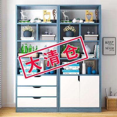 书架书柜简易落地置物架收纳柜多层卧室办公家用客厅学生书架带门