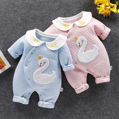 新生婴儿连体衣保暖小孩冬天衣服一岁男宝宝秋装3个月九六1女四新
