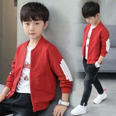 男童春秋季外套2020儿童中大童上衣新款韩版棒球服休闲夹克外套潮