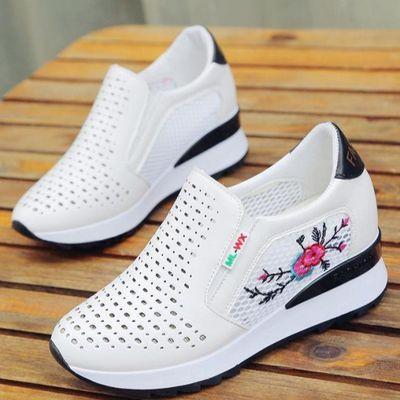 经典内真高鞋女内增高新款小白土皮面经典款款单红春鞋网袜子北京