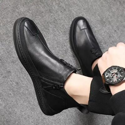 【工厂直销】秋冬新款潮流男靴-HM9601大红鹰BADBOY男鞋