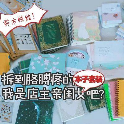 超值笔记本本子套装小清新大学生简约文具套装送少女心手账本活页