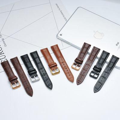 代用卡西欧表带头层小牛皮手表带真皮表带男表链女手表带配件