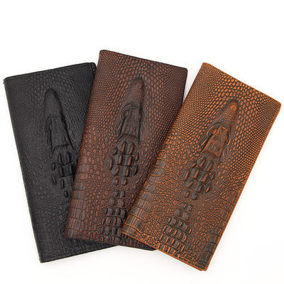 【MenBense】【鳄鱼纹】钱包男士长款商务手拿钱夹休闲皮夹子青年