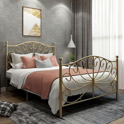 北欧式ins风现代简约公主床铁艺床单人双人铁床1.5铁架网红床