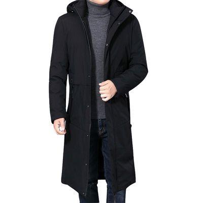 新款冬季加厚中年男士棉衣宽松大码过膝加长款棉袄爸爸装羽绒棉服