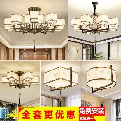 新中式吊灯客厅大厅灯饰中国风简约卧室餐厅别墅复古大气家用灯具