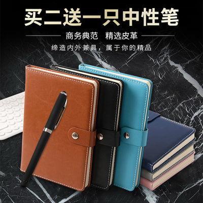 加厚商务笔记本A5皮面复古办公记事本学生简约日记创意工作记录本