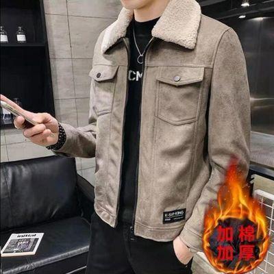 鹿皮绒夹克男士春秋季外套休闲韩版潮流上衣2020新款翻领外套男
