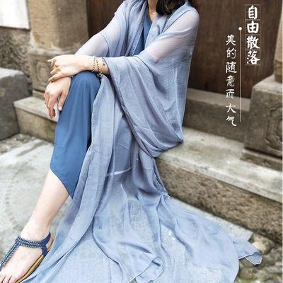 单色丝巾披肩超大超长新款民族风纯色防晒围巾女学生韩版春夏纱巾