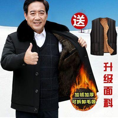 中老年男士棉衣外套冬季加绒加厚棉袄爸爸男装棉服老年人冬天衣服
