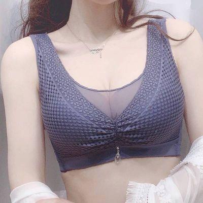 90-200斤胖MM大胸显小大码内衣女士抹胸文胸无钢圈薄款胸罩收副乳