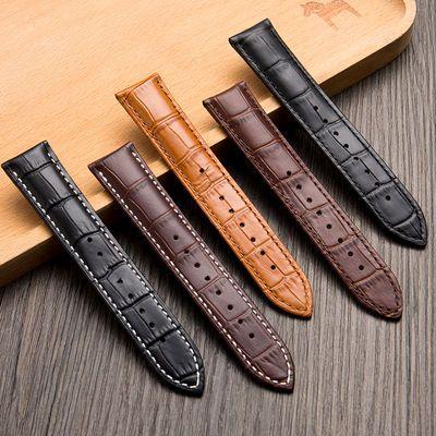 真皮手表带男女通用针扣皮带配件代用天梭卡西欧天王dw棕色 黑色