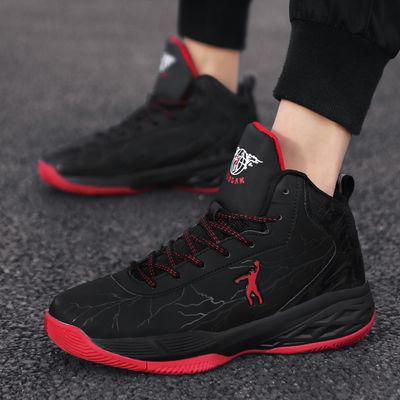 乔丹格兰2020新款春季篮球鞋男高帮学生运动鞋耐磨防滑男士球鞋