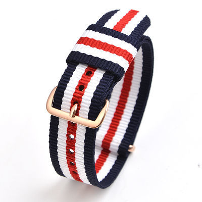 尼龙表带透气手表带男帆布表带女配件原装代用DW卡西欧天梭通用