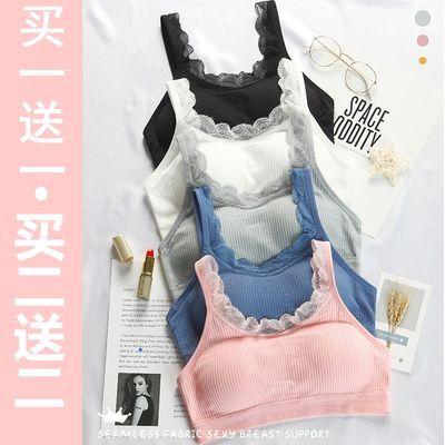 【芯比馨】韩版运动内衣女学生吊带蕾丝背心螺纹裹胸抹胸文胸美背